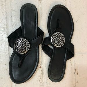 Coach Leather Flip Flops